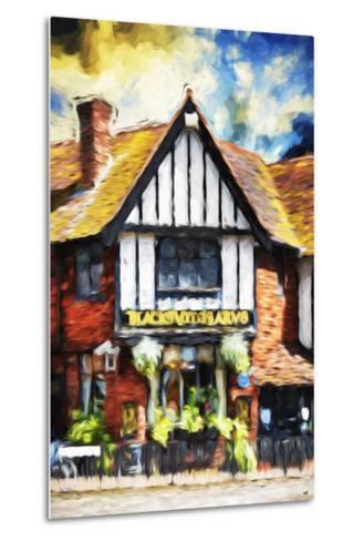 Black Inn - In the Style of Oil Painting-Philippe Hugonnard-Metal Print