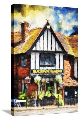 Black Inn - In the Style of Oil Painting-Philippe Hugonnard-Stretched Canvas Print