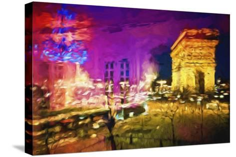 Paris Pink Atmosphere - In the Style of Oil Painting-Philippe Hugonnard-Stretched Canvas Print