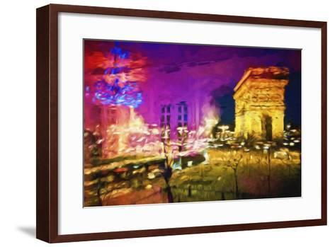 Paris Pink Atmosphere - In the Style of Oil Painting-Philippe Hugonnard-Framed Art Print