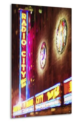 Radio City Music Hall - In the Style of Oil Painting-Philippe Hugonnard-Metal Print