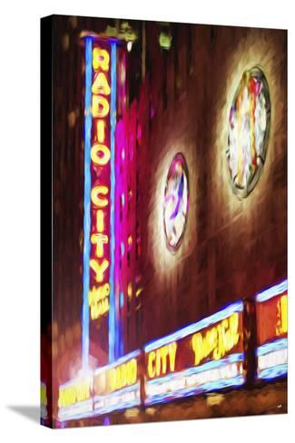 Radio City Music Hall - In the Style of Oil Painting-Philippe Hugonnard-Stretched Canvas Print