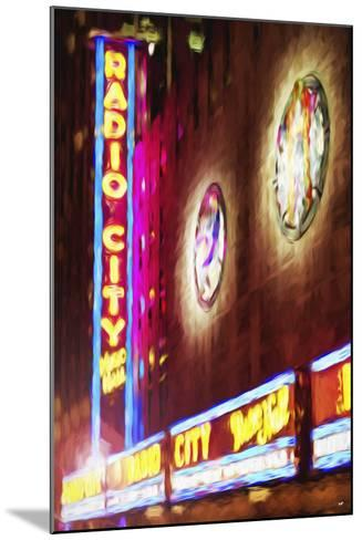 Radio City Music Hall - In the Style of Oil Painting-Philippe Hugonnard-Mounted Giclee Print