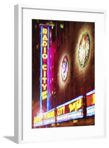 Radio City Music Hall - In the Style of Oil Painting-Philippe Hugonnard-Framed Art Print