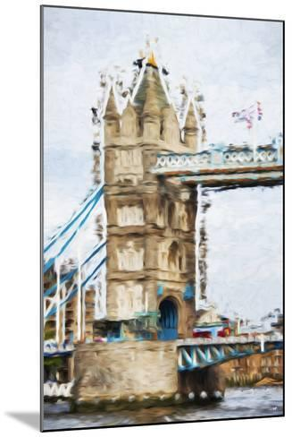 Tower Bridge - In the Style of Oil Painting-Philippe Hugonnard-Mounted Giclee Print