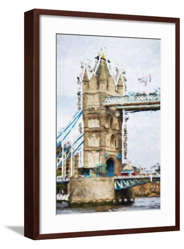 Tower Bridge - In the Style of Oil Painting-Philippe Hugonnard-Framed Art Print