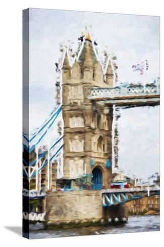 Tower Bridge - In the Style of Oil Painting-Philippe Hugonnard-Stretched Canvas Print