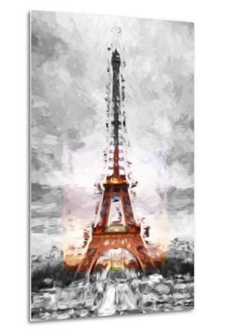 Eiffel Je t'aime II - In the Style of Oil Painting-Philippe Hugonnard-Metal Print