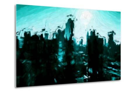 Emerald Skyline - In the Style of Oil Painting-Philippe Hugonnard-Metal Print