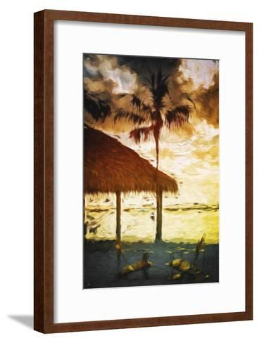 Sunset Hot Sun - In the Style of Oil Painting-Philippe Hugonnard-Framed Art Print