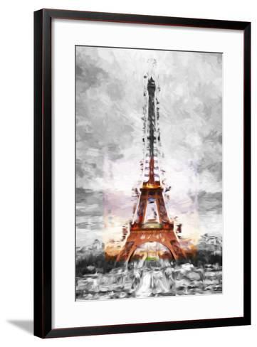 Eiffel Je t'aime II - In the Style of Oil Painting-Philippe Hugonnard-Framed Art Print