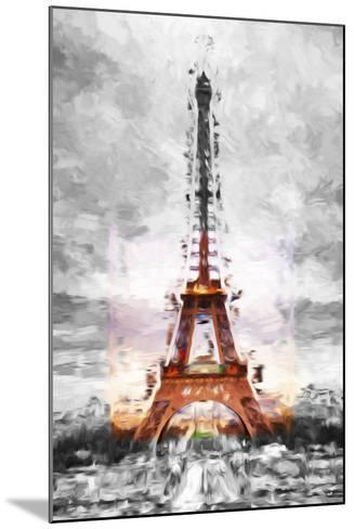 Eiffel Je t'aime II - In the Style of Oil Painting-Philippe Hugonnard-Mounted Giclee Print