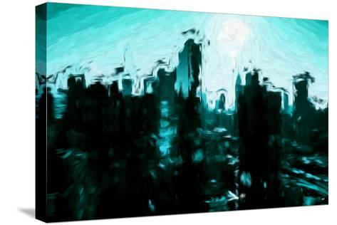 Emerald Skyline - In the Style of Oil Painting-Philippe Hugonnard-Stretched Canvas Print