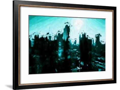 Emerald Skyline - In the Style of Oil Painting-Philippe Hugonnard-Framed Art Print