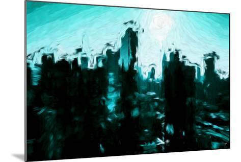 Emerald Skyline - In the Style of Oil Painting-Philippe Hugonnard-Mounted Giclee Print