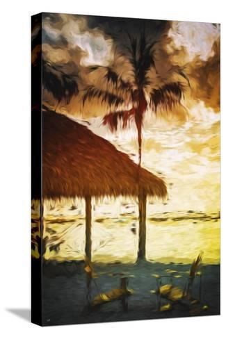 Sunset Hot Sun - In the Style of Oil Painting-Philippe Hugonnard-Stretched Canvas Print