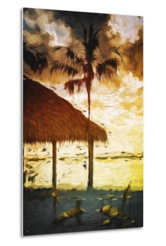 Sunset Hot Sun - In the Style of Oil Painting-Philippe Hugonnard-Metal Print