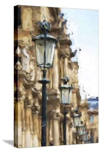 France Architecture - In the Style of Oil Painting-Philippe Hugonnard-Stretched Canvas Print