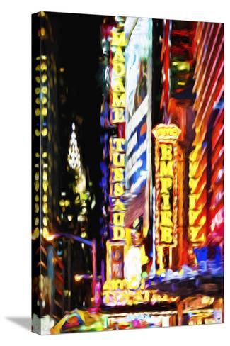 Times Square Night III - In the Style of Oil Painting-Philippe Hugonnard-Stretched Canvas Print