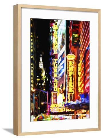 Times Square Night III - In the Style of Oil Painting-Philippe Hugonnard-Framed Art Print