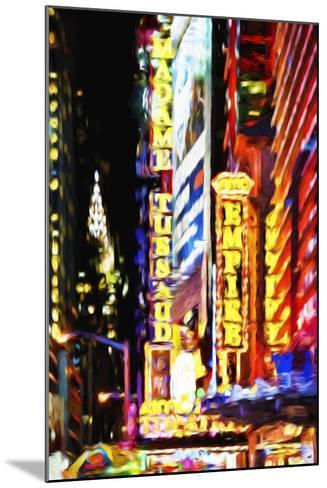 Times Square Night III - In the Style of Oil Painting-Philippe Hugonnard-Mounted Giclee Print