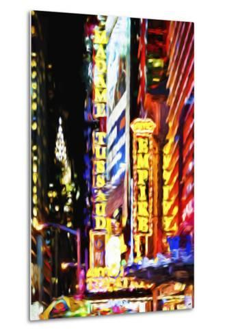 Times Square Night III - In the Style of Oil Painting-Philippe Hugonnard-Metal Print