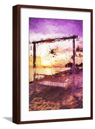 Swinging Chair II - In the Style of Oil Painting-Philippe Hugonnard-Framed Art Print