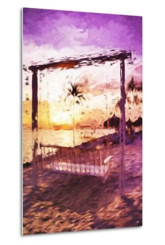 Swinging Chair II - In the Style of Oil Painting-Philippe Hugonnard-Metal Print
