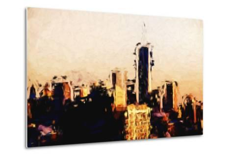 Manhattan Cityscape - In the Style of Oil Painting-Philippe Hugonnard-Metal Print