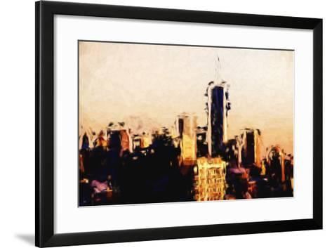 Manhattan Cityscape - In the Style of Oil Painting-Philippe Hugonnard-Framed Art Print