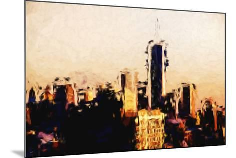 Manhattan Cityscape - In the Style of Oil Painting-Philippe Hugonnard-Mounted Giclee Print