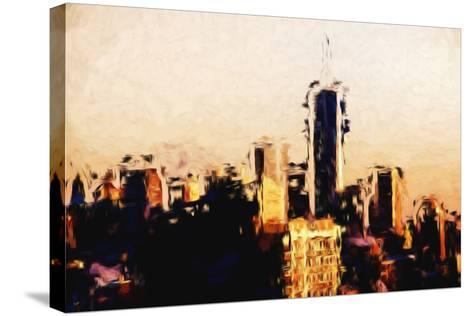Manhattan Cityscape - In the Style of Oil Painting-Philippe Hugonnard-Stretched Canvas Print