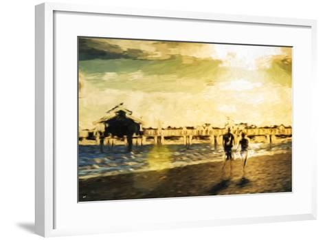 End of Love Day - In the Style of Oil Painting-Philippe Hugonnard-Framed Art Print