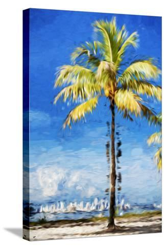 View Miami - In the Style of Oil Painting-Philippe Hugonnard-Stretched Canvas Print