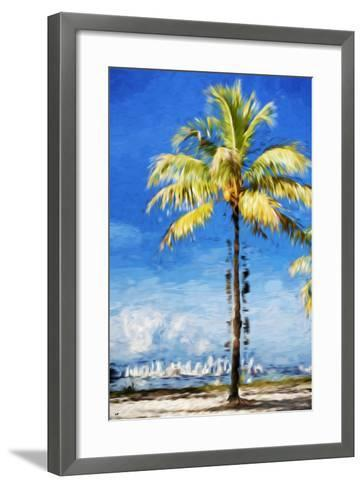 View Miami - In the Style of Oil Painting-Philippe Hugonnard-Framed Art Print