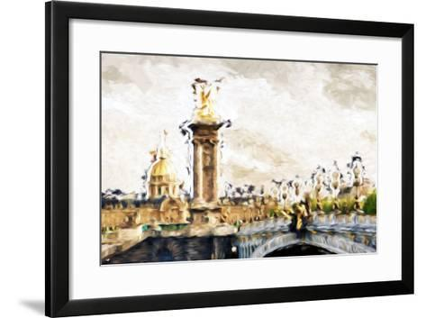 Paris Dreams - In the Style of Oil Painting-Philippe Hugonnard-Framed Art Print