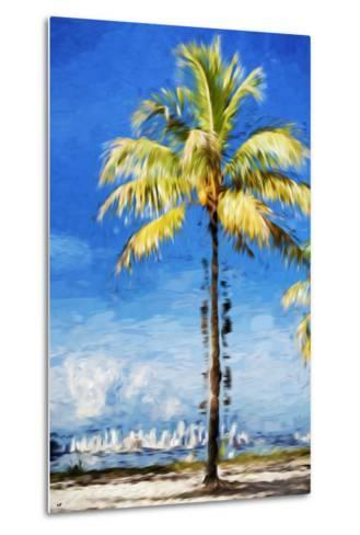 View Miami - In the Style of Oil Painting-Philippe Hugonnard-Metal Print