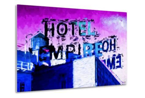 Hotel Empire Pink Sky - In the Style of Oil Painting-Philippe Hugonnard-Metal Print