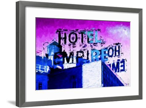 Hotel Empire Pink Sky - In the Style of Oil Painting-Philippe Hugonnard-Framed Art Print
