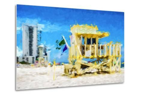 South Beach Miami IV - In the Style of Oil Painting-Philippe Hugonnard-Metal Print