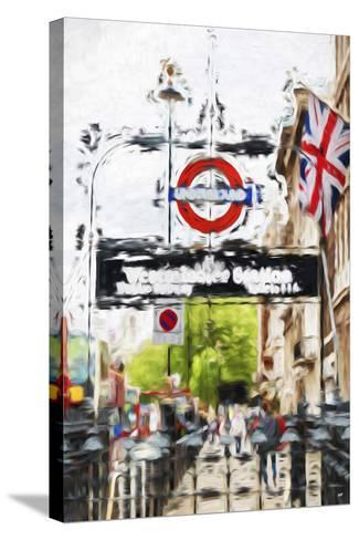 Westminster Station - In the Style of Oil Painting-Philippe Hugonnard-Stretched Canvas Print
