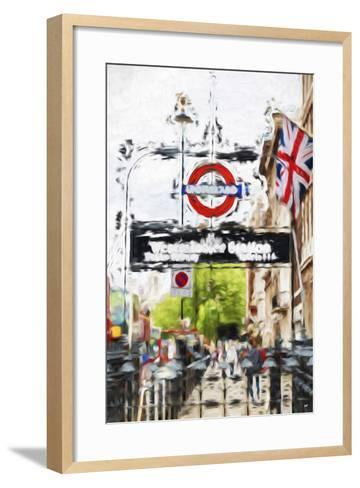 Westminster Station - In the Style of Oil Painting-Philippe Hugonnard-Framed Art Print
