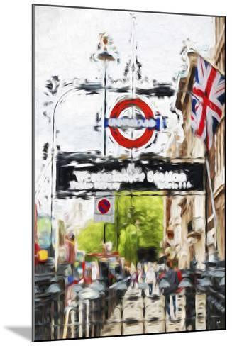 Westminster Station - In the Style of Oil Painting-Philippe Hugonnard-Mounted Giclee Print