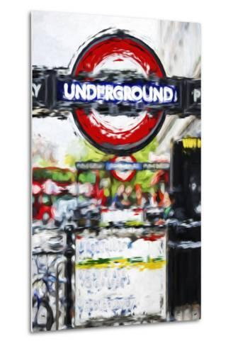 Underground Sign - In the Style of Oil Painting-Philippe Hugonnard-Metal Print