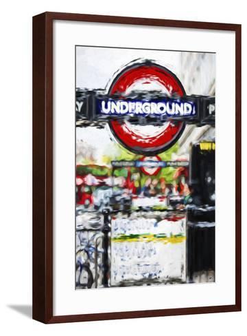 Underground Sign - In the Style of Oil Painting-Philippe Hugonnard-Framed Art Print