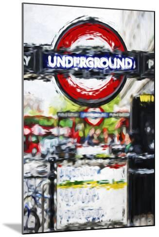 Underground Sign - In the Style of Oil Painting-Philippe Hugonnard-Mounted Giclee Print
