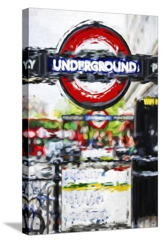 Underground Sign - In the Style of Oil Painting-Philippe Hugonnard-Stretched Canvas Print