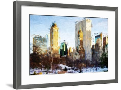 Central Park Buildings - In the Style of Oil Painting-Philippe Hugonnard-Framed Art Print