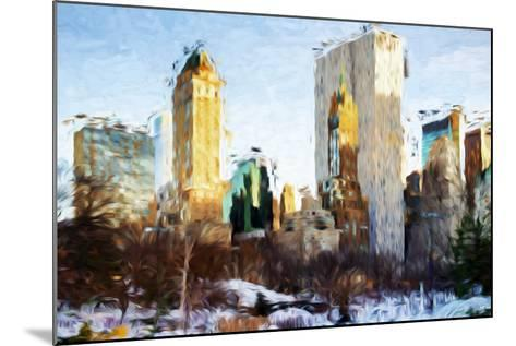 Central Park Buildings - In the Style of Oil Painting-Philippe Hugonnard-Mounted Giclee Print