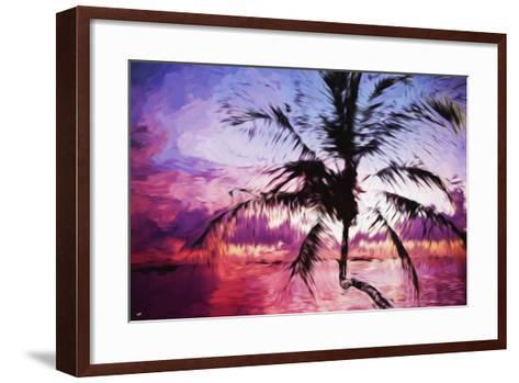 Tropical Sunset II - In the Style of Oil Painting-Philippe Hugonnard-Framed Art Print